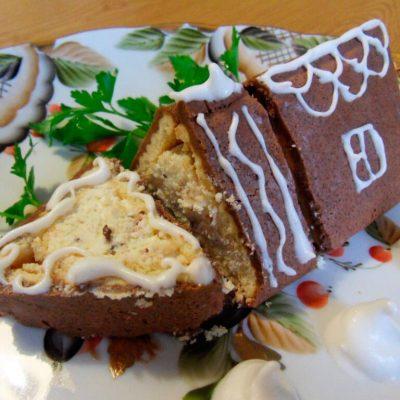 Оригинальный пошаговый рецепт торта без выпечки из печенья с творожной начинкой и какао