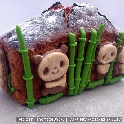 Кекс «Столичный» с изюмом в декоре «Панда» - пошаговый рецепт с фото.