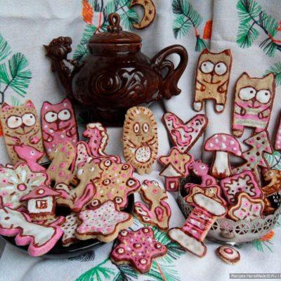 Пошаговый рецепт рождественского имбирного печенья