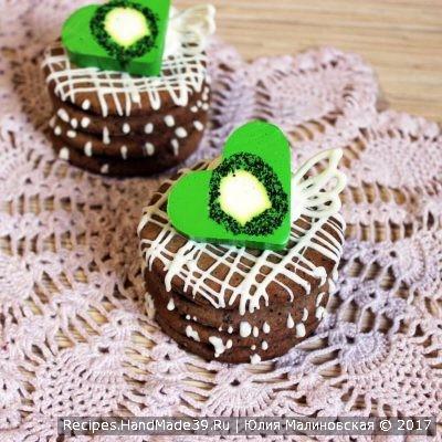 Песочное пирожное с какао и белым шоколадом – пошаговый рецепт с фото