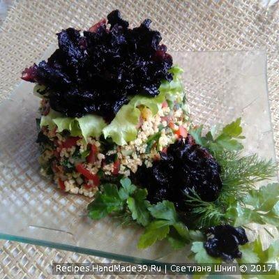Восточный салат табуле с пшеном