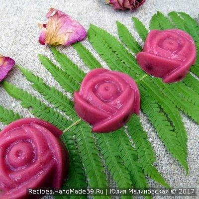 Вишнёво-молочный мармелад «Цветок папоротника» – пошаговый рецепт с фото