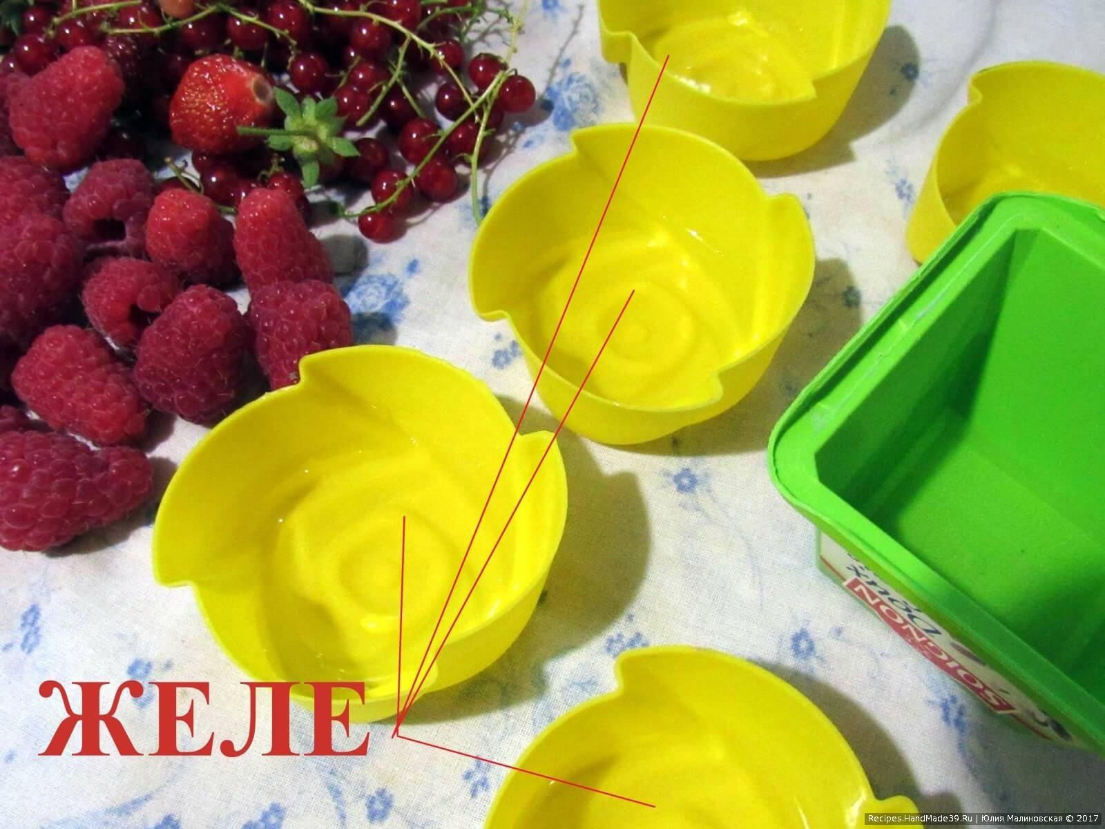 Бисквитно-желейный торт Мозаика (пошаговый рецепт)