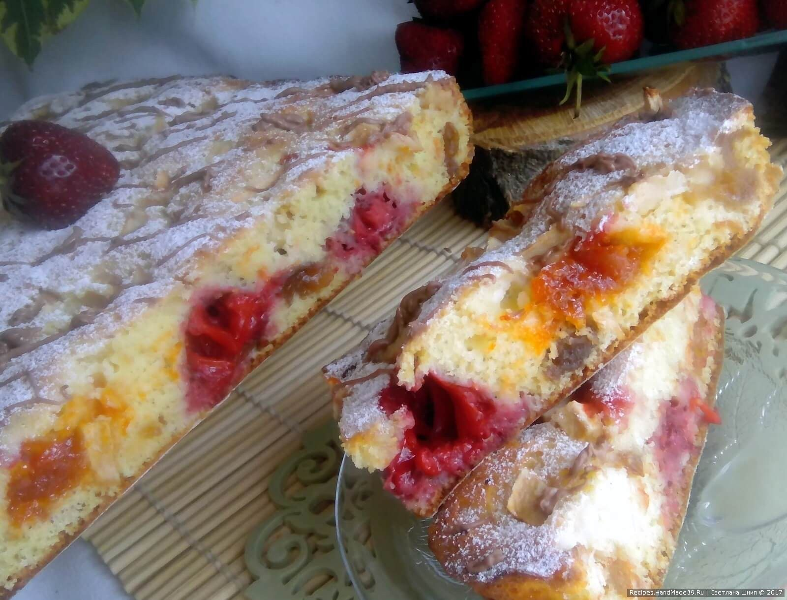 Пирог с фруктами рецепт пошагово в домашних условиях