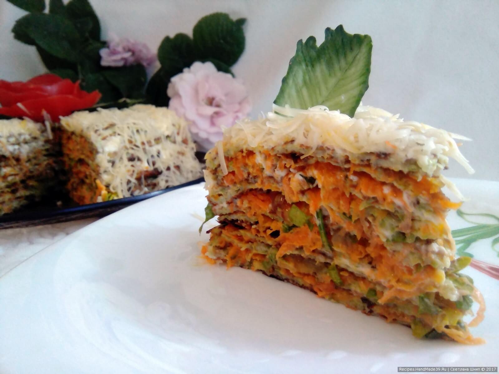 Рецепт торт с кабачков пошагово в