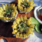 Запеканка макаронная с грибами и сыром