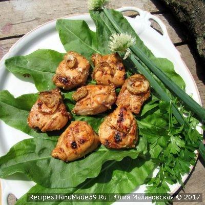 Рецепт куриного шашлыка с соевым соусом «Зной Востока»