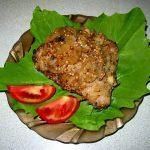Мясо в горчице, запечённое с луком
