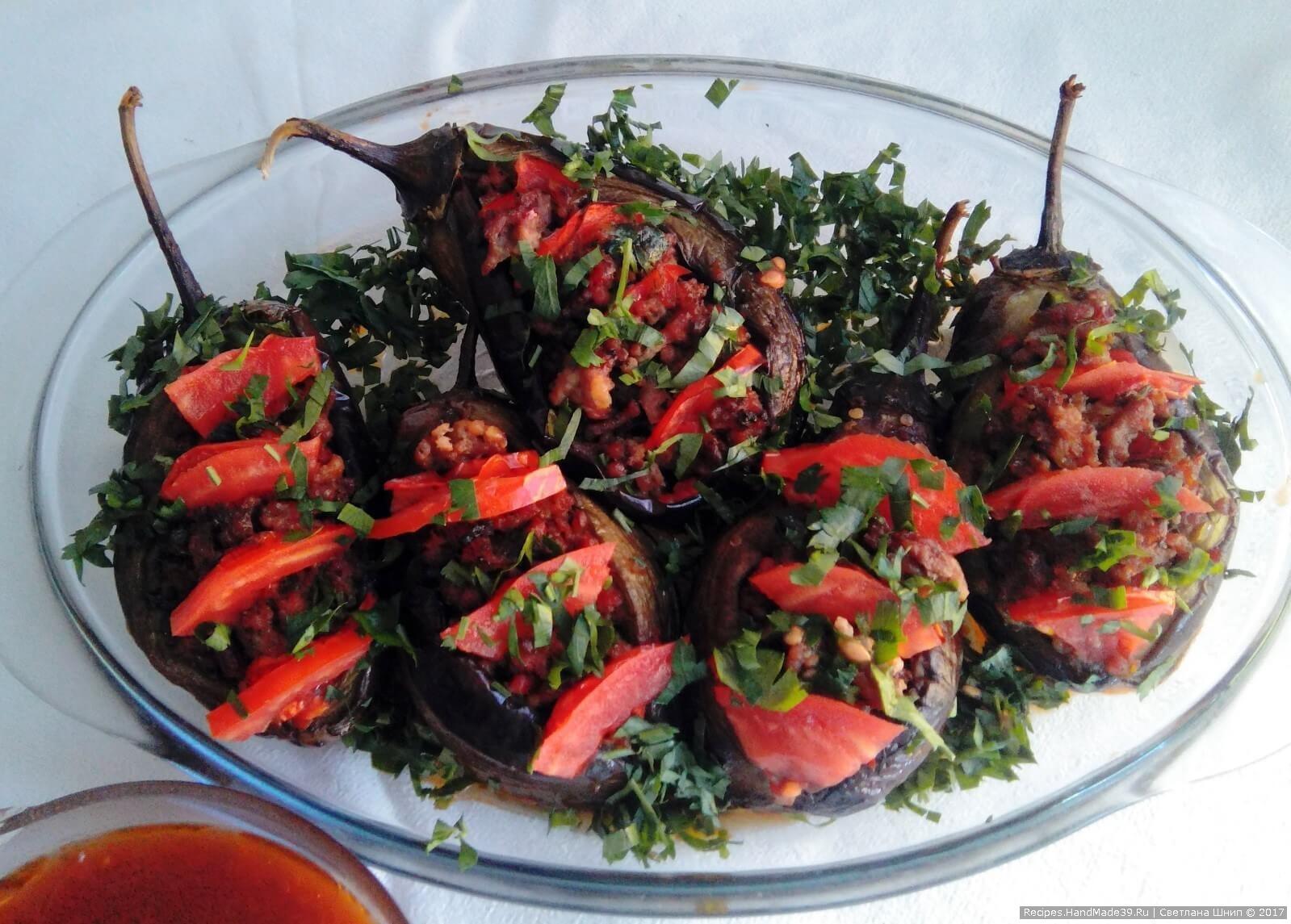 Фаршированные перцы с баклажанами пошаговый рецепт