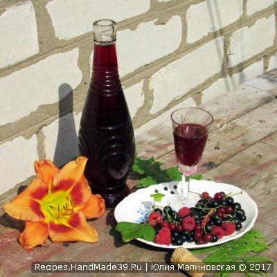 Ликёр на ягодном ассорти – пошаговый кулинарный рецепт с фото