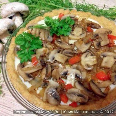 Песочный пирог-пай с грибами – пошаговый рецепт с видео