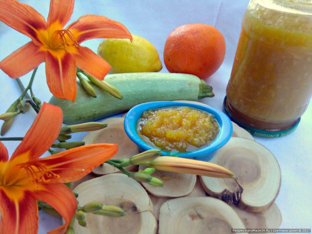 Кабачковое варенье с лимоном и апельсином