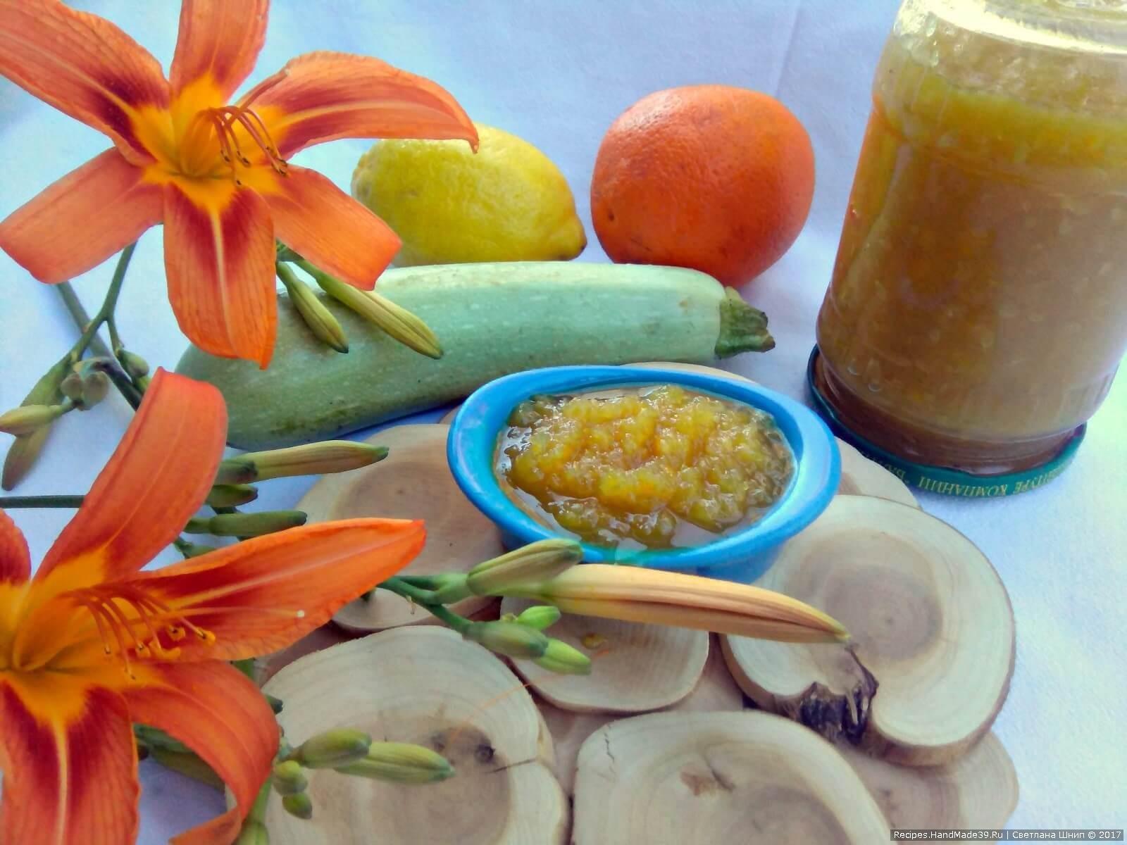 Варенья с кабачков фото пошагово рецепт с лимоном и апельсином