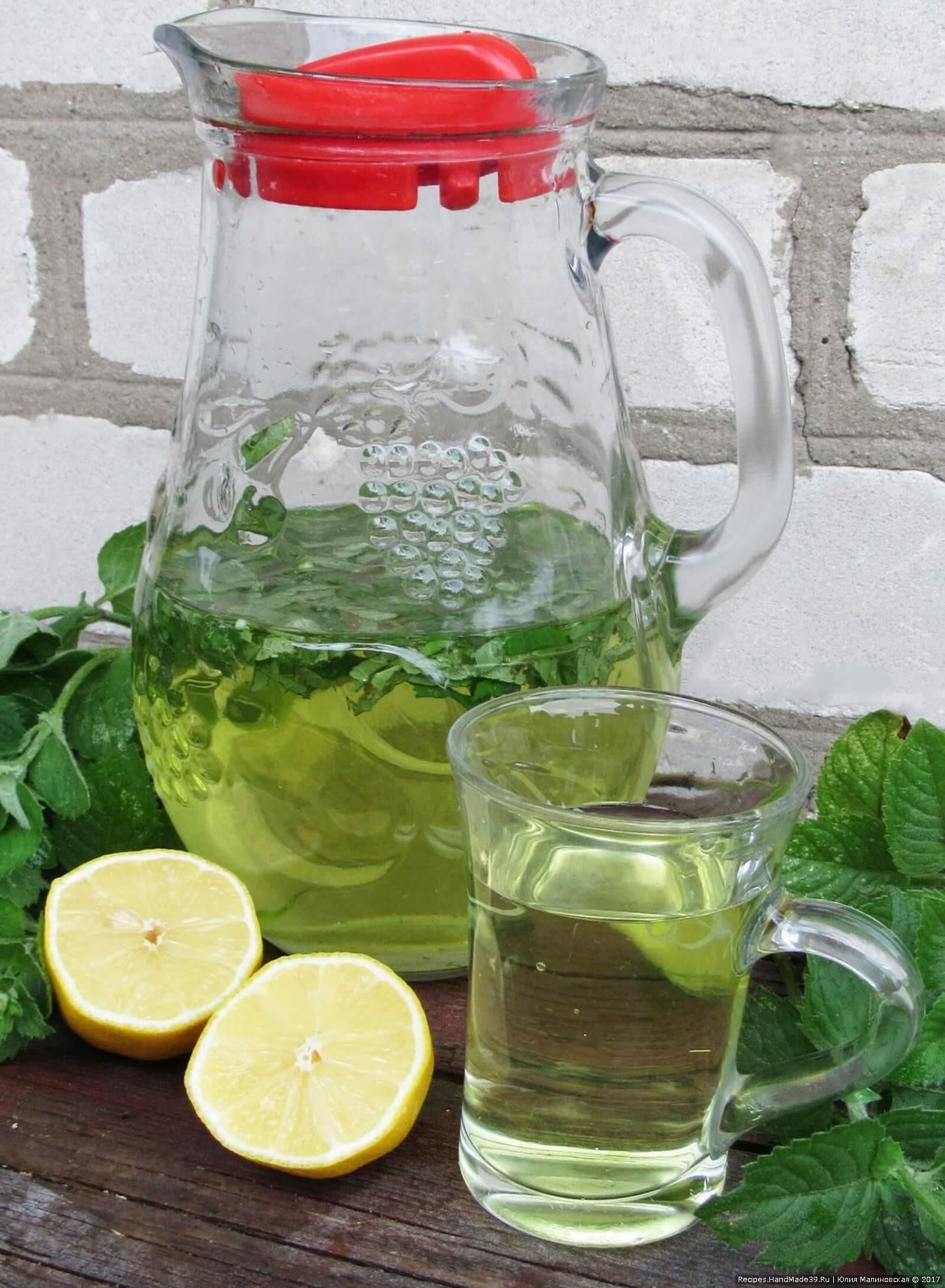 Освежающие напитки в домашних условиях с лимоном и мятой