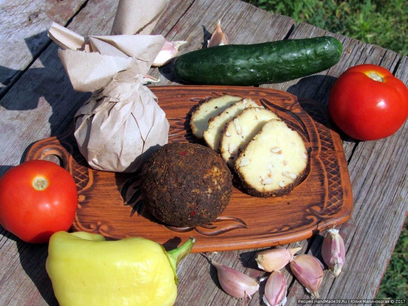 Сыр Белпер Кнолле с грецкими орехами, чесноком и перцем
