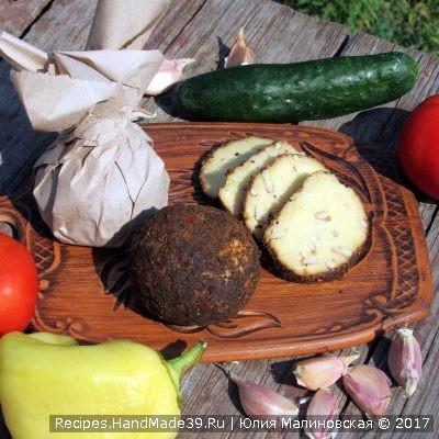 Домашний сыр Белпер Кнолле с грецкими орехами – пошаговый рецепт с фото
