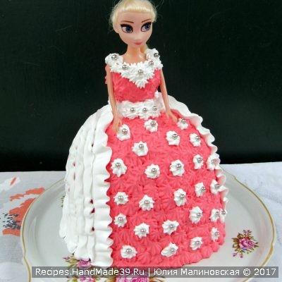 Рецепт бисквитного торта «Кукла» в домашних условиях