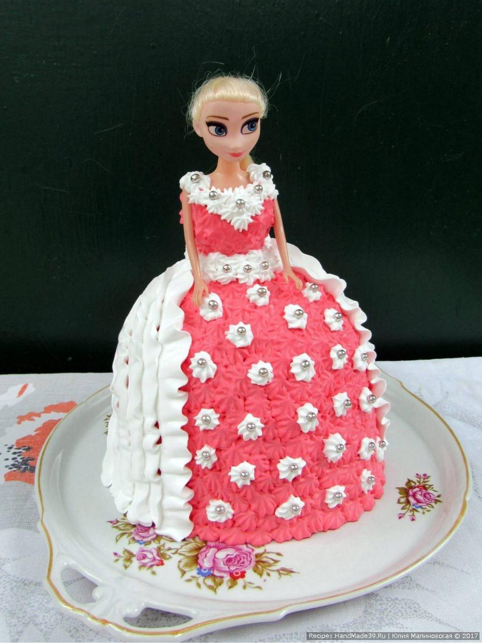 Бисквитный торт «Кукла» в домашних условиях