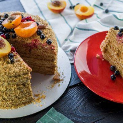 Классический торт «Медовик»– пошаговый рецепт с фото