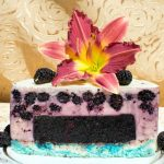 Торт «Зебра» с шелковицей и мармеладом