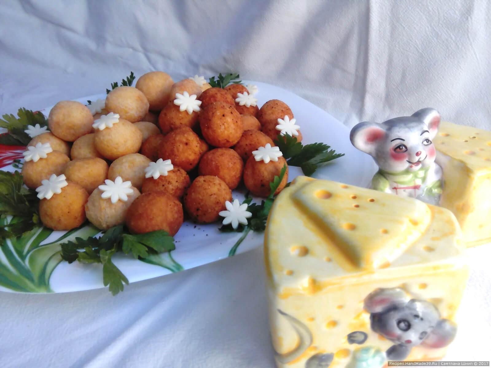 Жареные сырные шарики – пошаговый кулинарный рецепт с фото. Приятного аппетита!