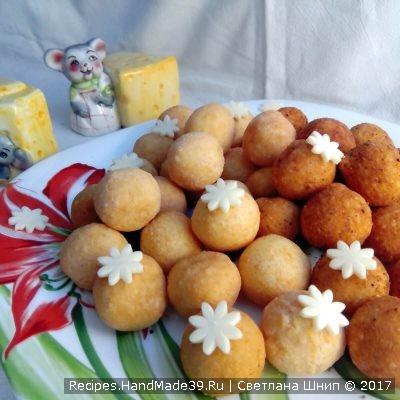 Жареные сырные шарики – пошаговый кулинарный рецепт с фото