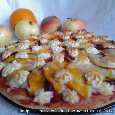 Сладкая пицца – пошаговый кулинарный рецепт с фото