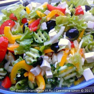 Греческий салат – пошаговый кулинарный рецепт с фото