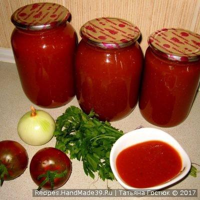 Домашний кетчуп «Краснодарский» на зиму – пошаговый рецепт с фото