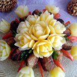 Отварные розы из картофеля
