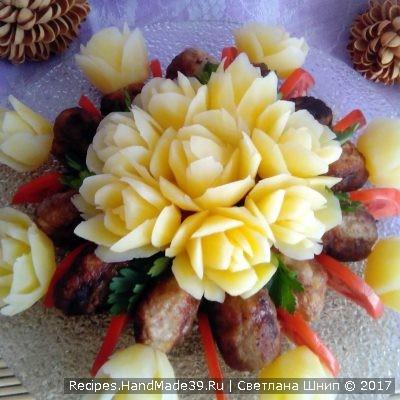 Как сделать розы из картофеля