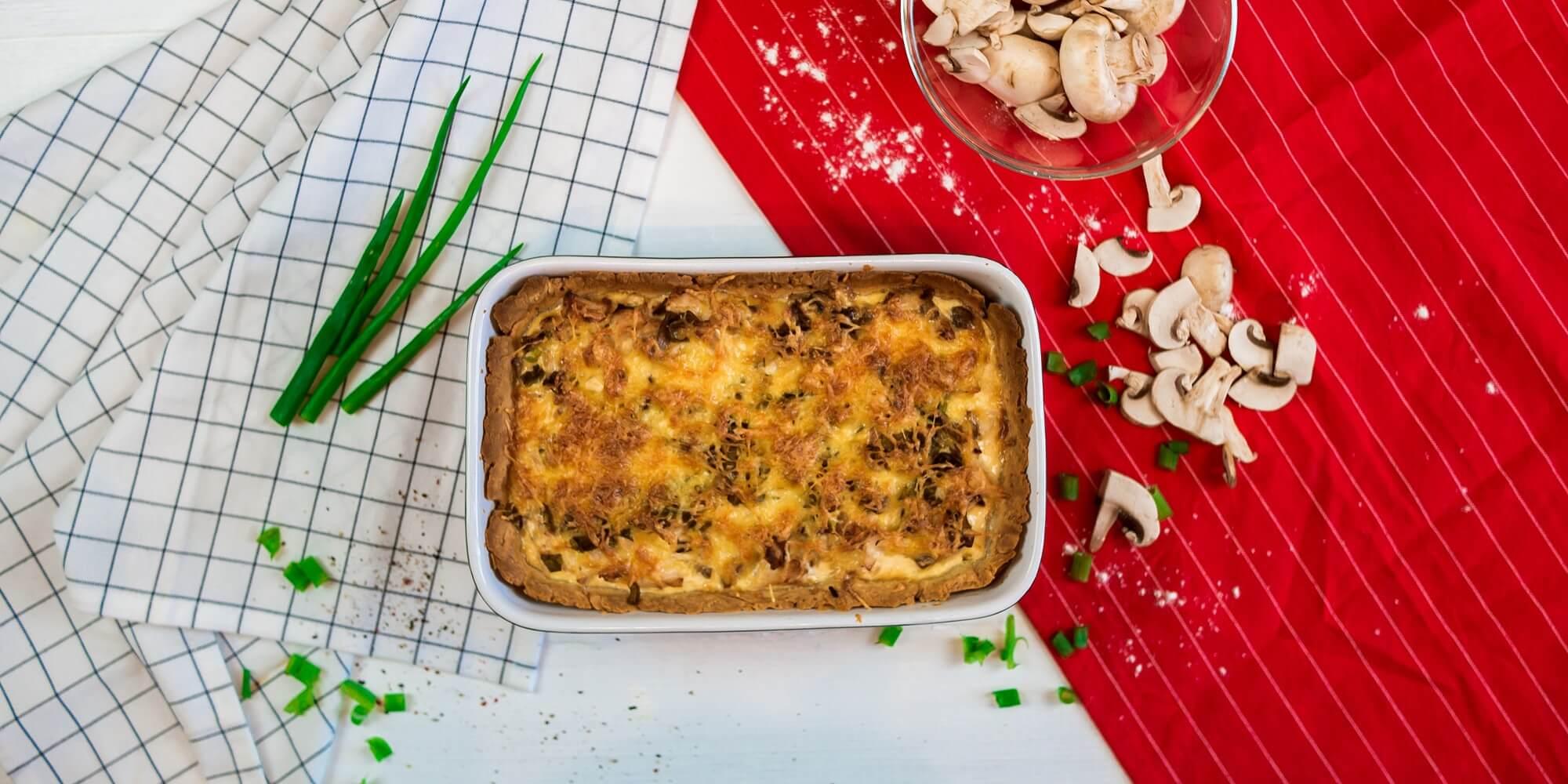 Киш с курицей и грибами: пошаговый рецепт французского пирога с фото