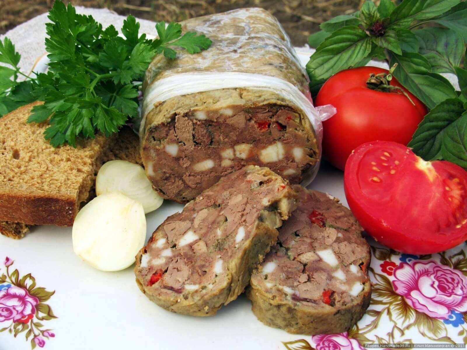 Домашний зельц из куриной печени «Панский»