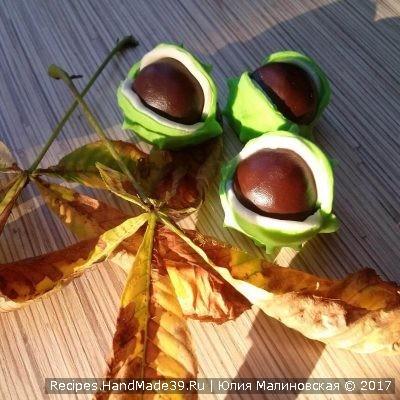 Домашние конфеты Каштан из мастики и пластичного шоколада с грецкими орехами – пошаговый рецепт с фото