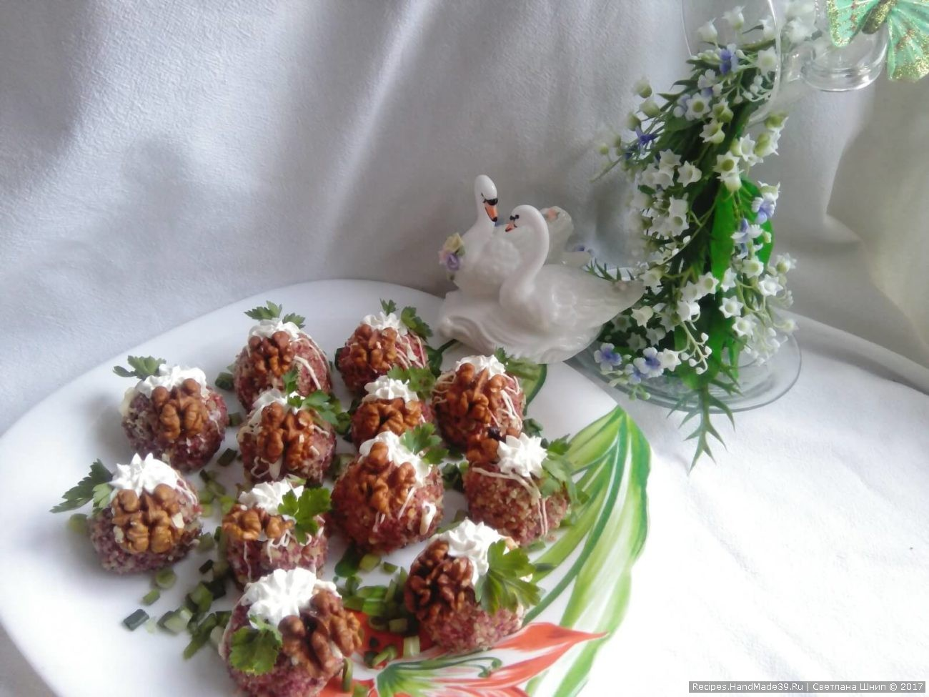 Свекольно-ореховые шарики