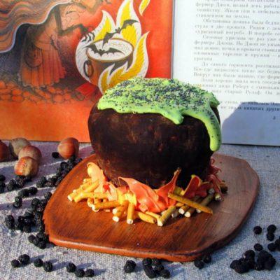 Шоколадный десерт на Хеллоуин – пошаговый кулинарный рецепт с фото