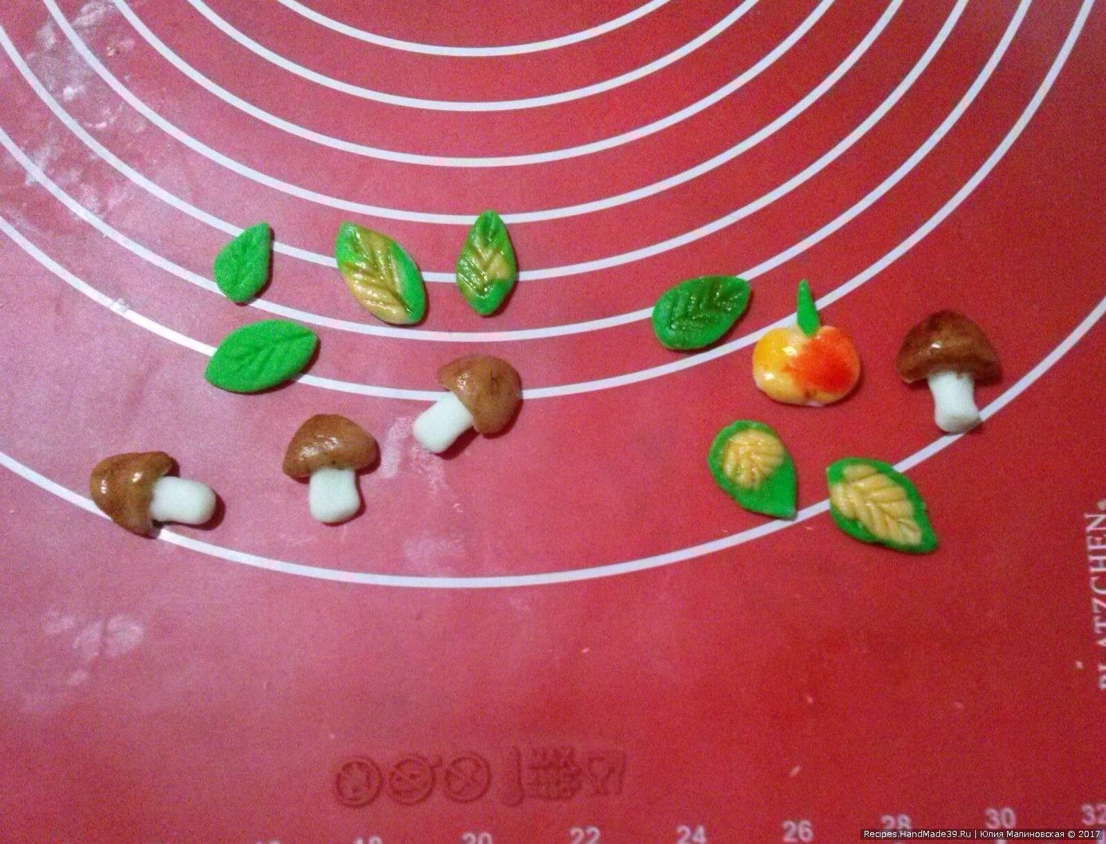Раскрасить пищевыми красителями