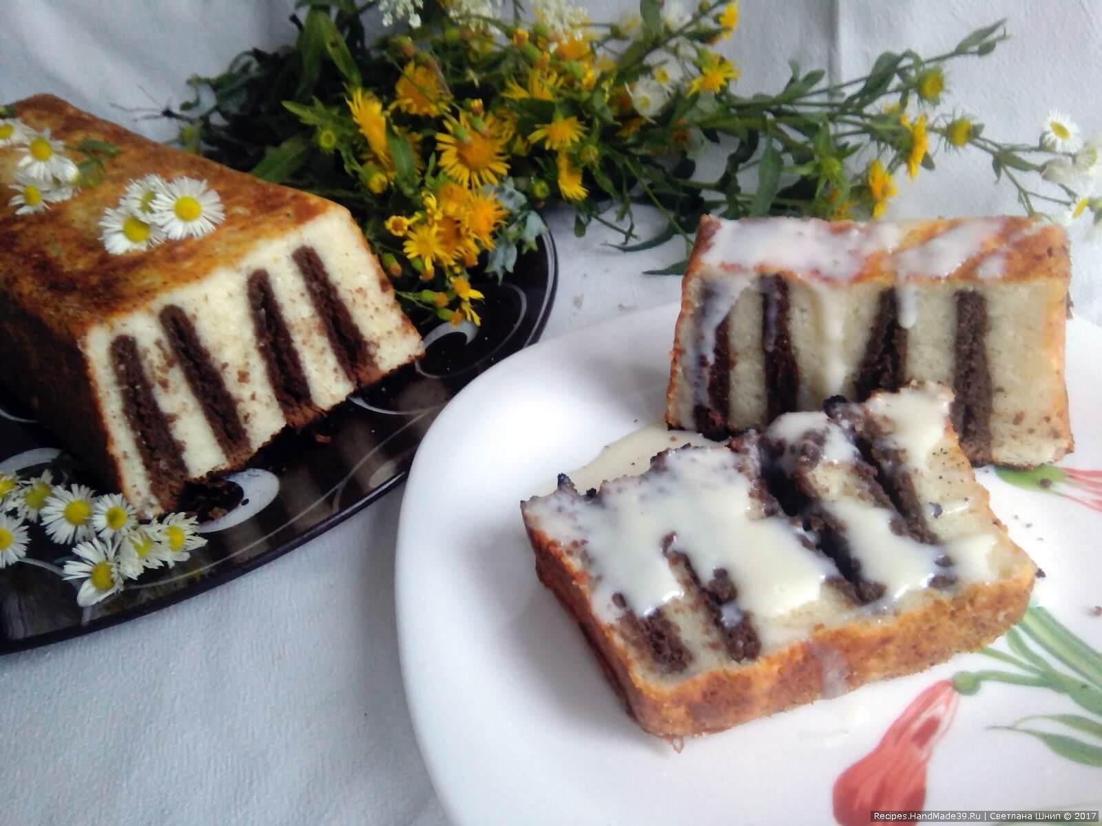 Творожная запеканка с шоколадным печеньем «Зебра» – пошаговый рецепт с фото