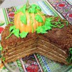Торт-медовик «Тыковка» с тыквенным кремом