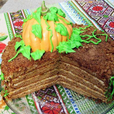 Тыквенный торт-медовик – пошаговый кулинарный рецепт с фото