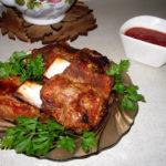 Свиные рёбрышки в томатном маринаде