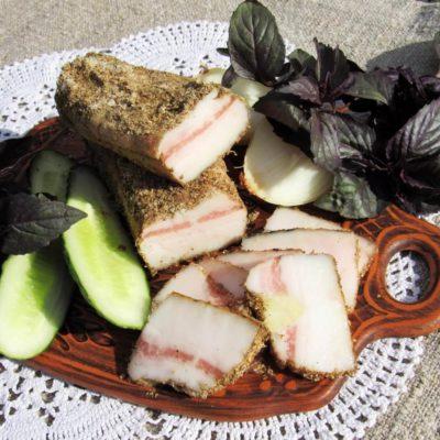 Домашнее сало с чесноком – пошаговый кулинарный рецепт с фото