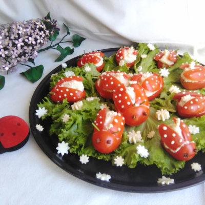 Закуска «Божьи коровки» – пошаговый кулинарный рецепт с фото