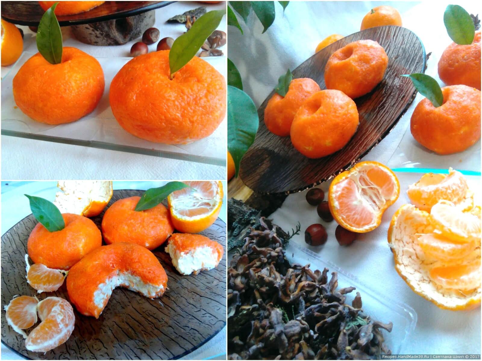 Пошаговый рецепт сырной закуски «Мандарин» с чесночным вкусом
