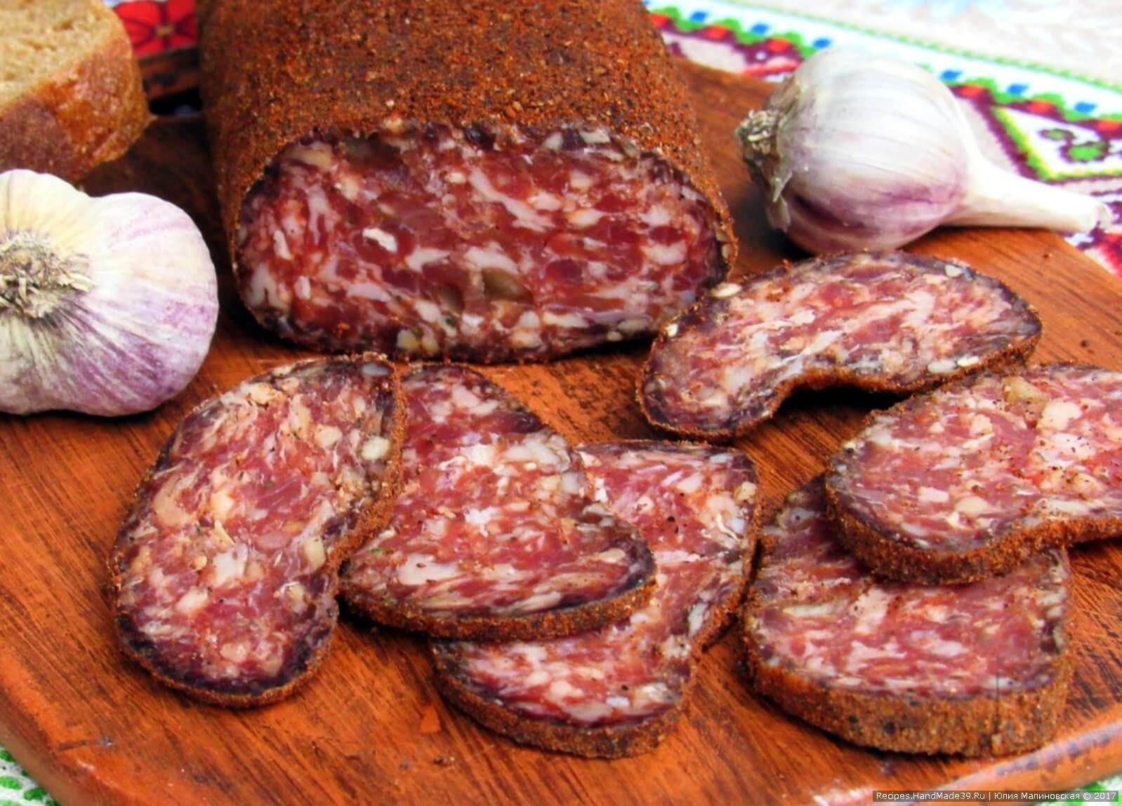 Сыровяленая колбаса в домашних условиях рецепт пошагово