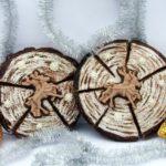 Новогодний пряник «Спил дерева»