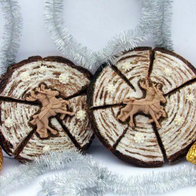 Новогодний пряник «Спил дерева» – пошаговый кулинарный рецепт с фото