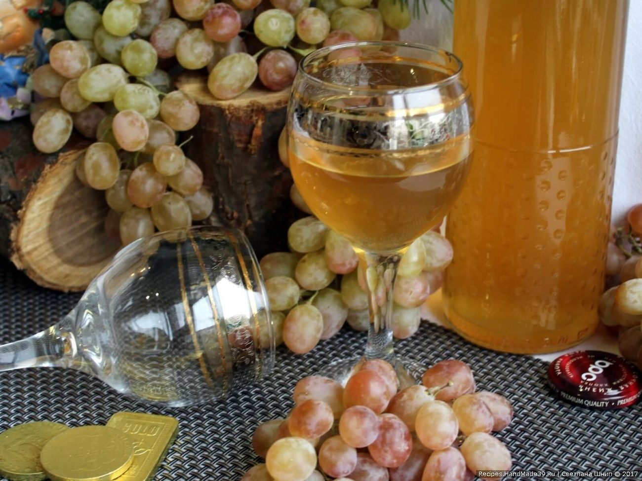 Домашнее вино из зелёного винограда