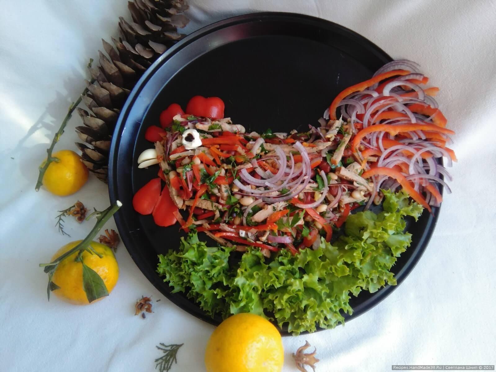 Грузинский салат «Тбилиси» – пошаговый кулинарный рецепт с фото