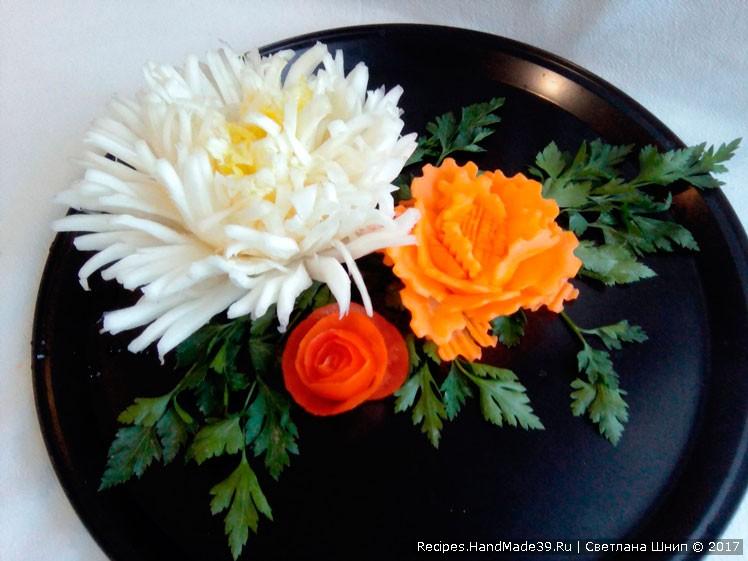 Как сделать украшение из овощей своими руками, мастер-класс №1